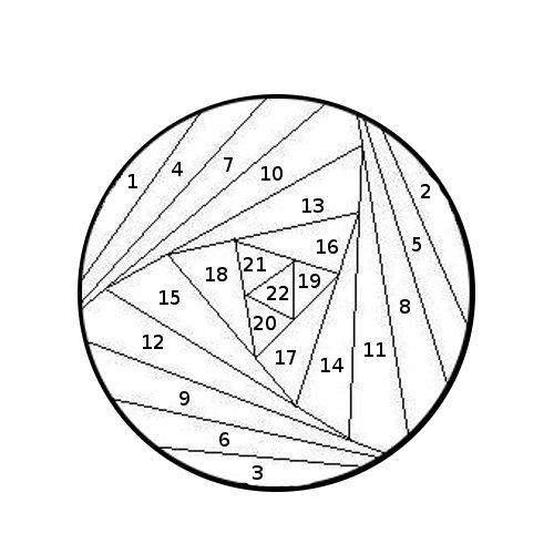 Можно делать всё одним цветом, можно...  Пример как делать шарик: берём схему iris folding для шарика - круг.